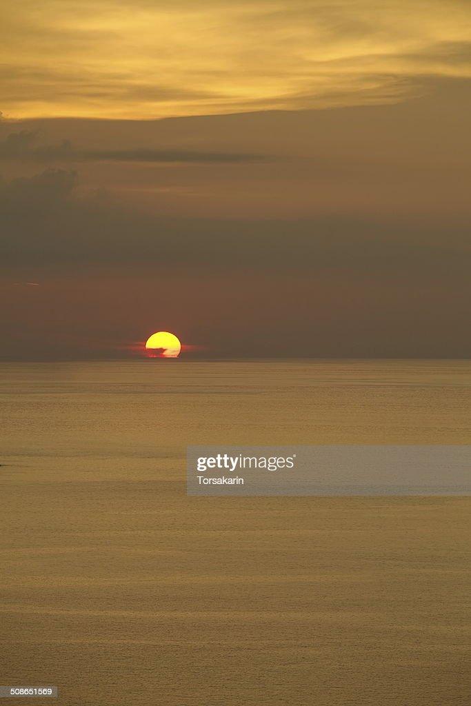 Beautiful Sea Sunset from Phuket sea Thailand : Stock Photo