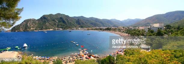Beautiful sea view resort town