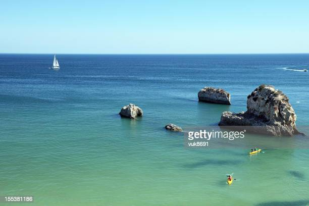 beautiful seascape - albufeira stock pictures, royalty-free photos & images
