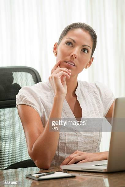 Beautiful Secretary thinking (XXXL)