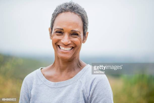 A beautiful senior African American Woman