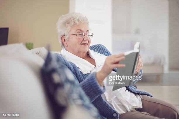Beautiful senior woman at home
