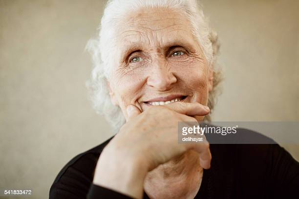 beautiful senior woman - white hair stock pictures, royalty-free photos & images