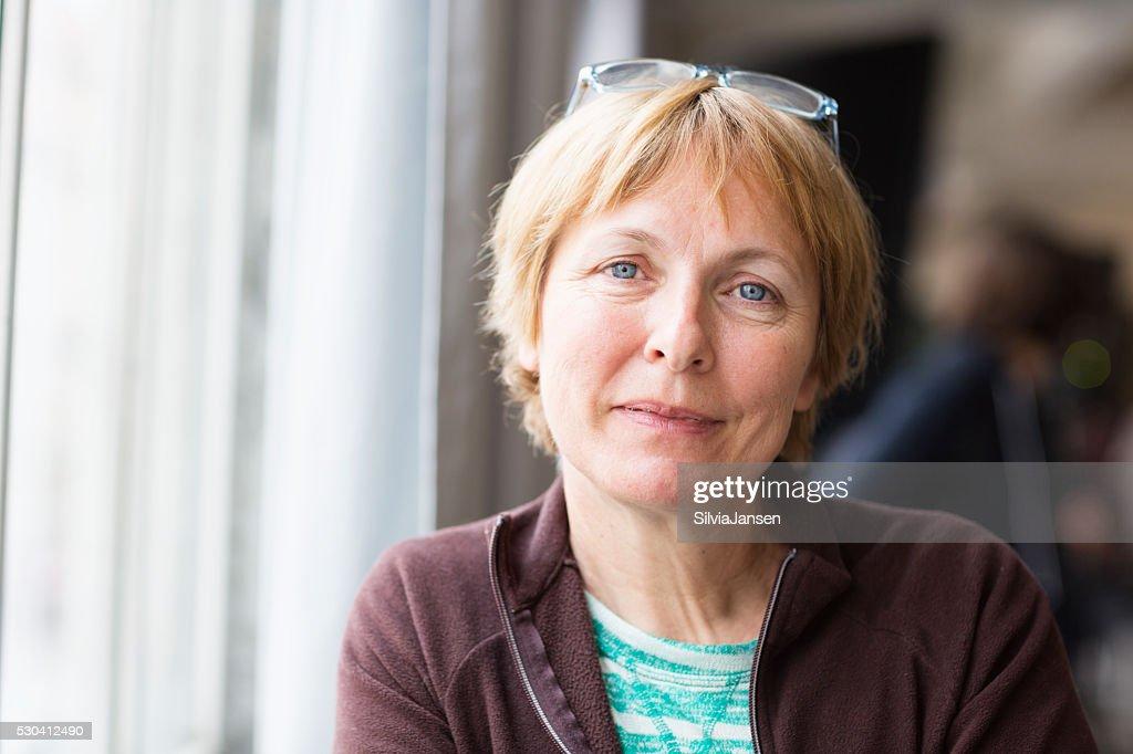 beautiful senior woman portrait happiness : Stockfoto