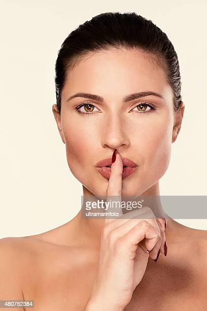 Beautiful sensual lips    Beauty  Dynamic women  Finger on lips