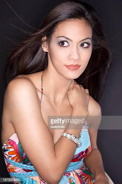 belle et sexy jeune femme ethnique mode modèle portrait de printemps - skin diamond photos et images de collection