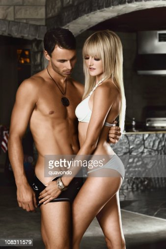 Beautiful Sexy Young Couple Modeling Swimwear Stock Photo  Getty Images-9082