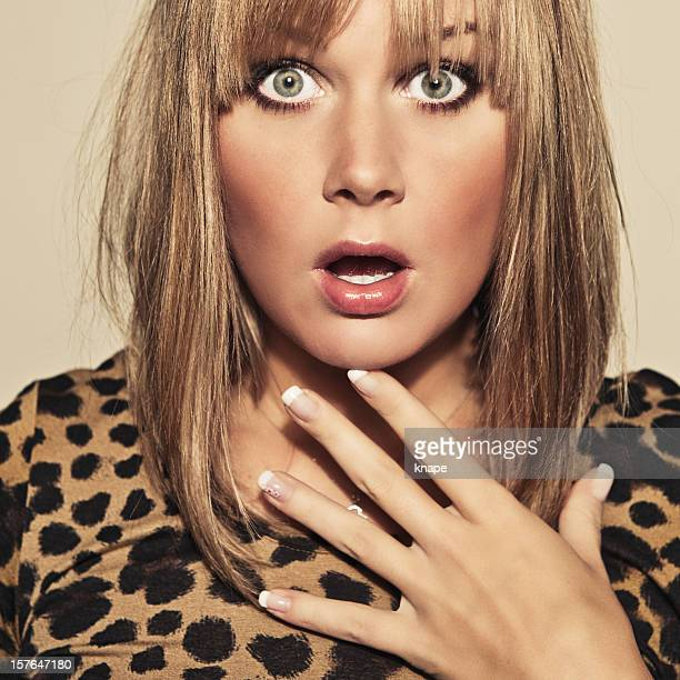 beautiful shocked young woman - staring stock photos and pictures