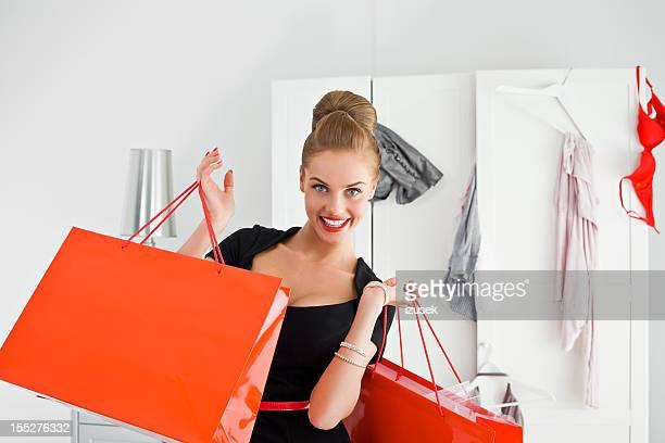 beautiful shopaholic - izusek stock pictures, royalty-free photos & images