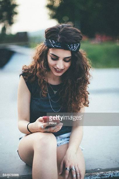 Beautiful skater girl