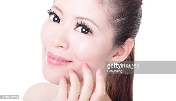beautiful Skincare woman face close up