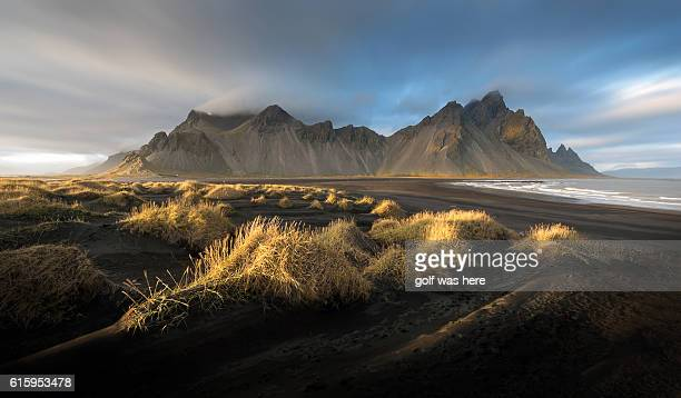 Beautiful Sky at Vestrahorn Mountain Iceland