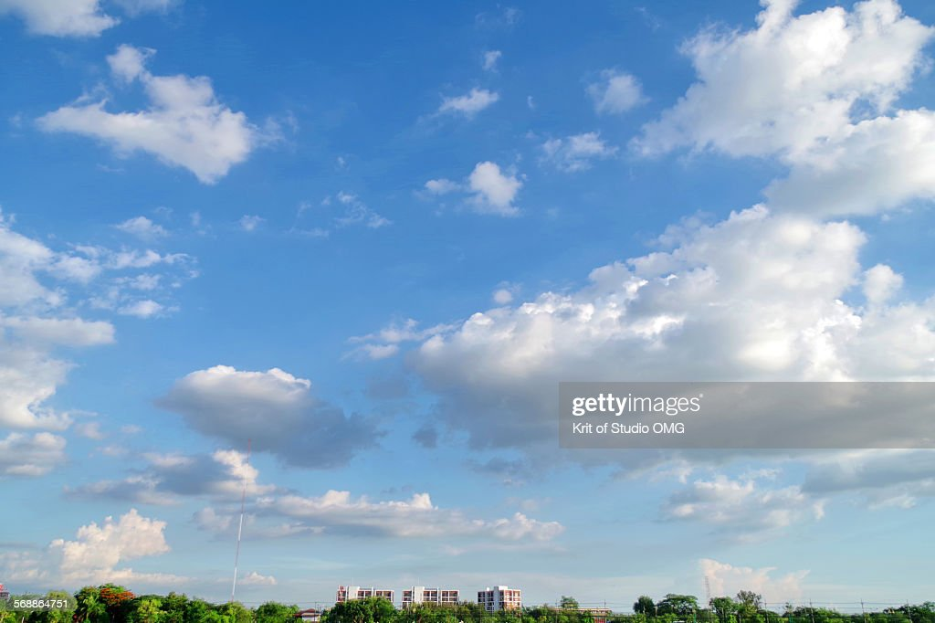 A beautiful sky over city : Stock Photo
