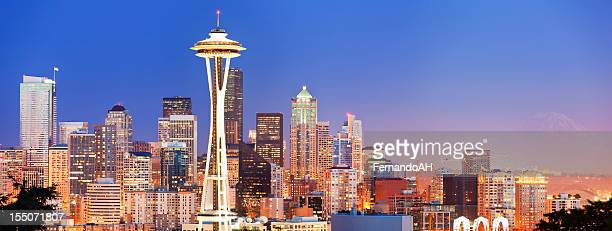 Beautiful skyline of the Seattle panorama at dusk