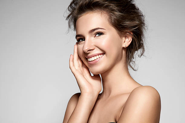 Free beautiful lady images pictures and royalty free stock beautiful smiling woman with clean skin natural make up voltagebd Images
