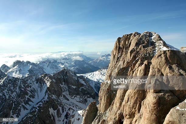 Bellissimo neve panorama (Marmolada-Dolomiti, Italia