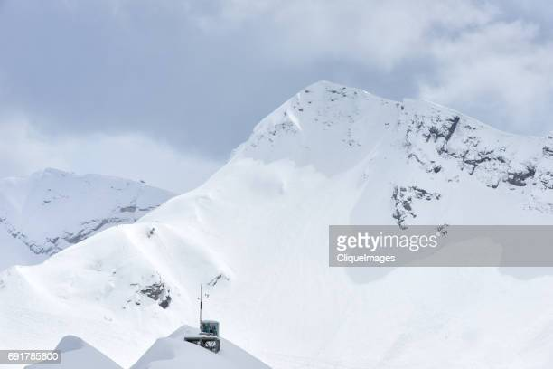 beautiful snowy caucasus peak - cliqueimages stockfoto's en -beelden