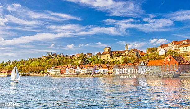 beautiful spring day in meersburg at lake constance (bodensee) - baden württemberg stock photos and pictures