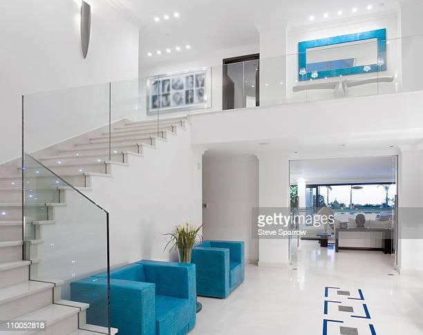 Beautiful staircase in luxury villa
