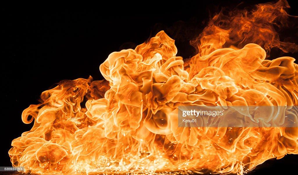 Beautiful stylish fire flames : Stock Photo