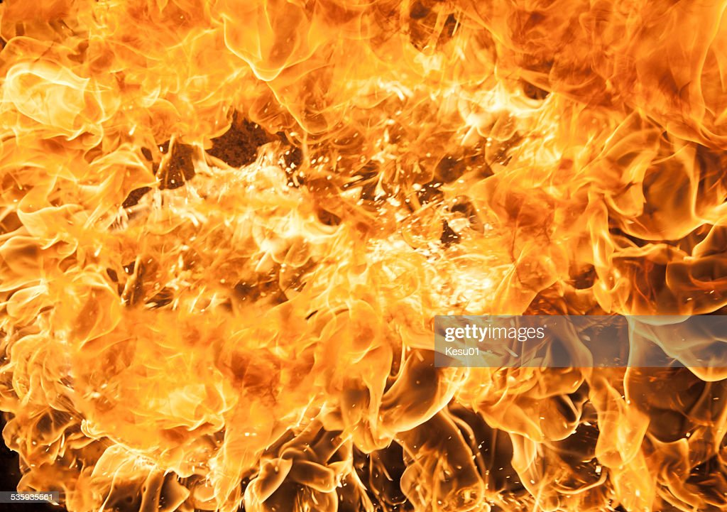 Beautiful stylish fire flames : Stock Photo