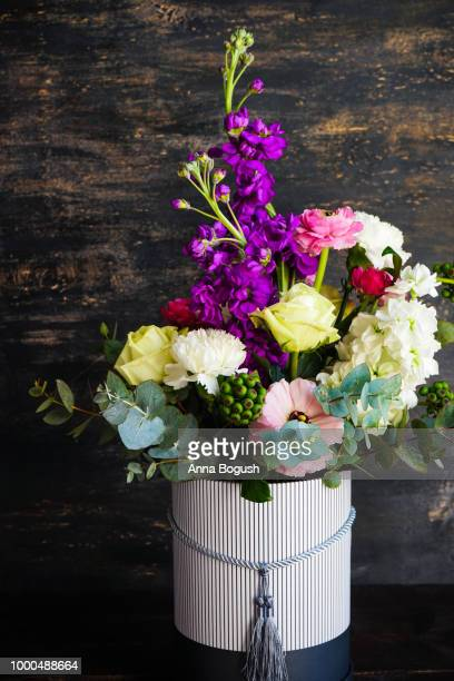 beautiful summer bouquet - delphinium stock pictures, royalty-free photos & images