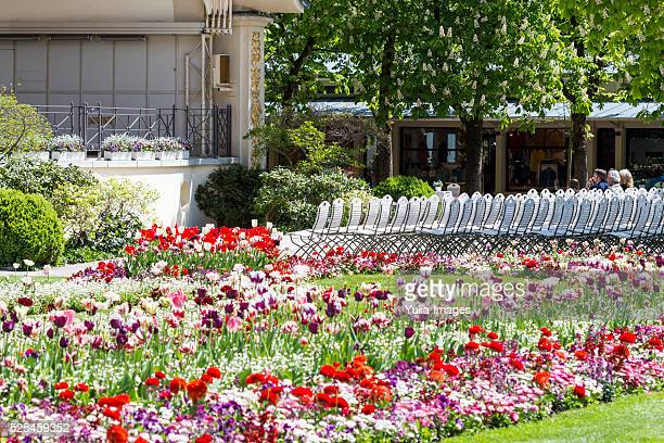 beautiful summer day in baden-baden - kurhaus baden baden stock-fotos und bilder