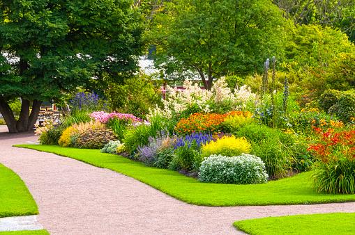 Beautiful summer garden 164963728