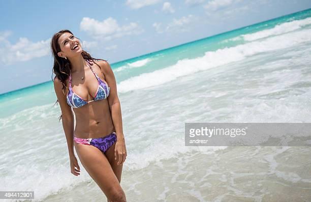 Beautiful summer woman in bikini