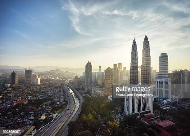 Beautiful Sunlight over Petronas Twin Towers