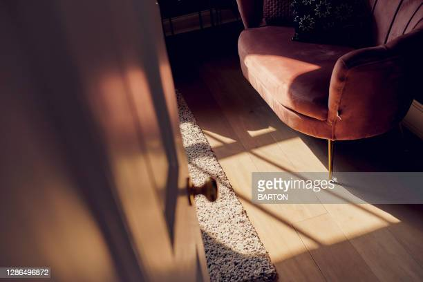 beautiful sunlight showing abstract shadows in home - sunset stock pictures, royalty-free photos & images