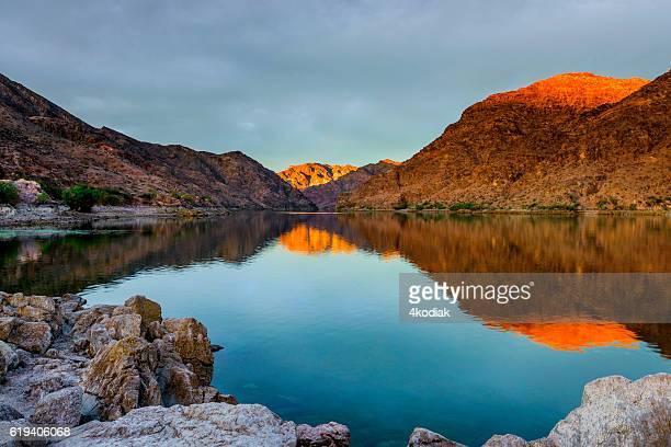 Beautiful Sunrise at Colorado River near Las Vegas