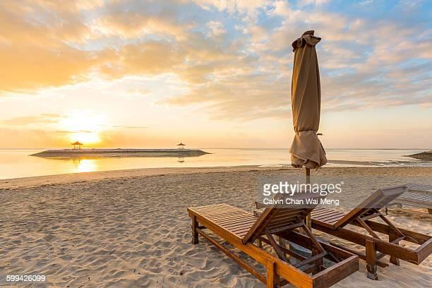 Beautiful sunrise at Karang beach - Sanur (Bali)
