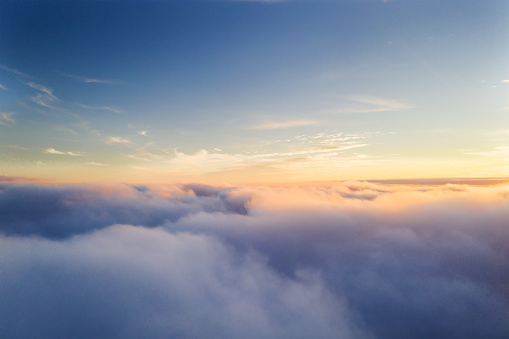 Beautiful sunrise cloudy sky from aerial view 1089470482