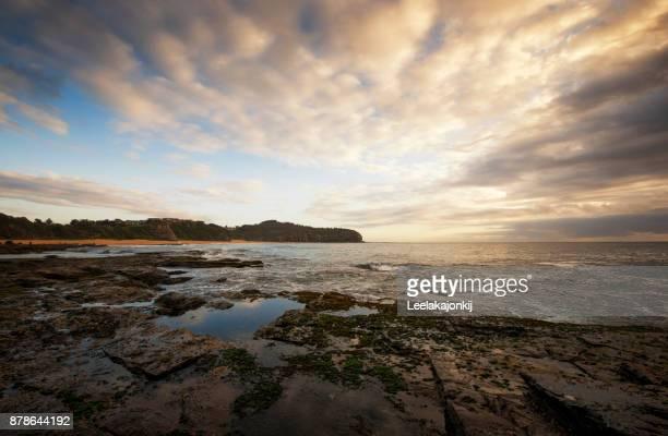 Beautiful sunrise from Turimetta beach in Sydney