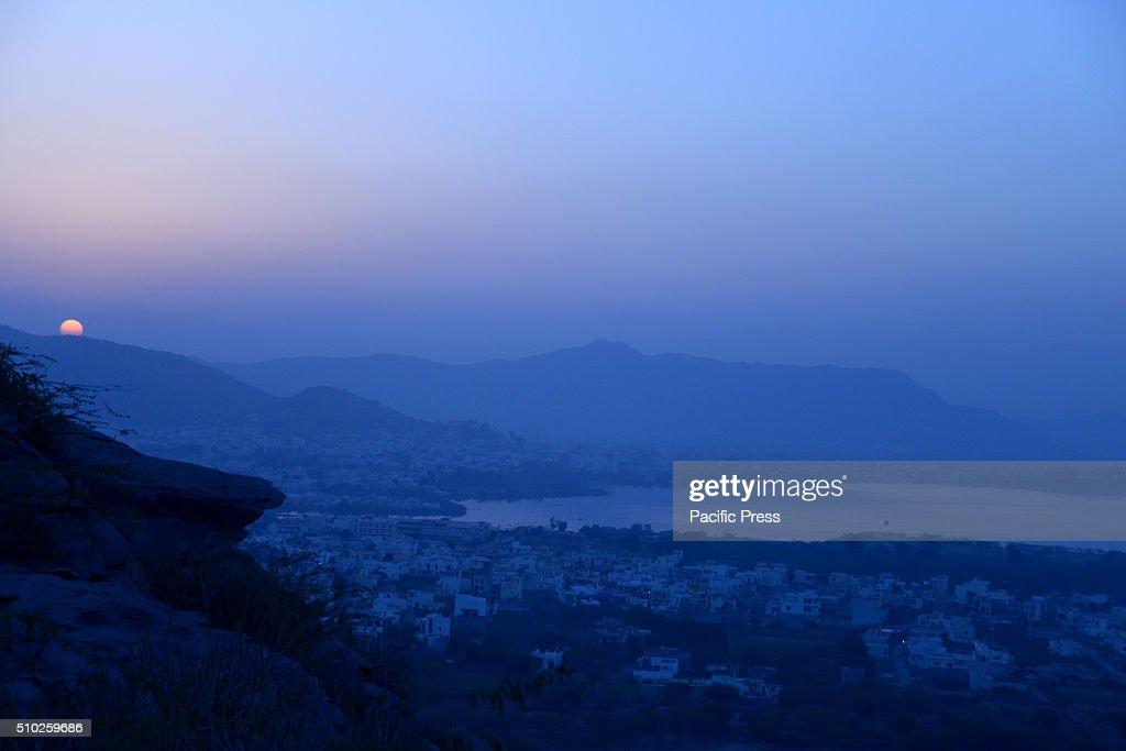 A beautiful sunrise in Ajmer.