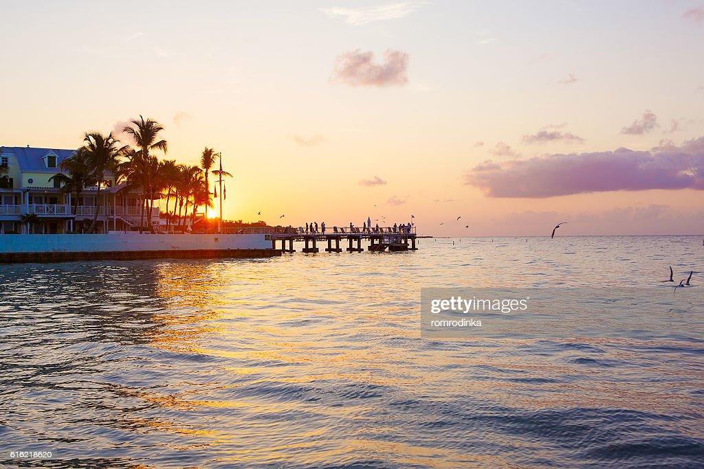 Wunderschöne Sonnenaufgang in Schlüssel West, Florida, USA : Stock-Foto