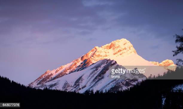 Beautiful sunrise over the Rocky Mountains in Banff, Banff National Park,Alberta,Canada