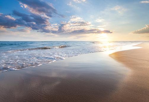 Beautiful sunrise over the sea 1161610609