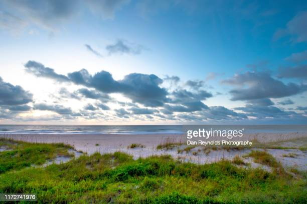 beautiful sunrise seascape - jacksonville beach stock pictures, royalty-free photos & images