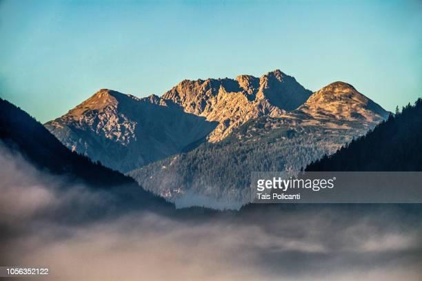 Beautiful sunrise shot of the Austrian Alps in Tirol