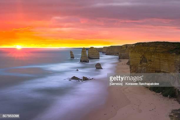 Beautiful sunset at 12 Apostles