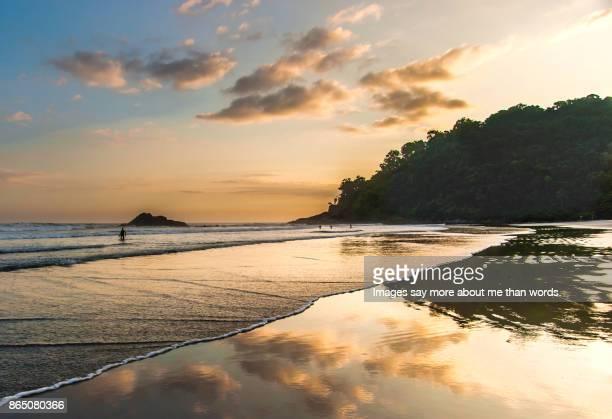 A beautiful sunset at the beach. Brazil