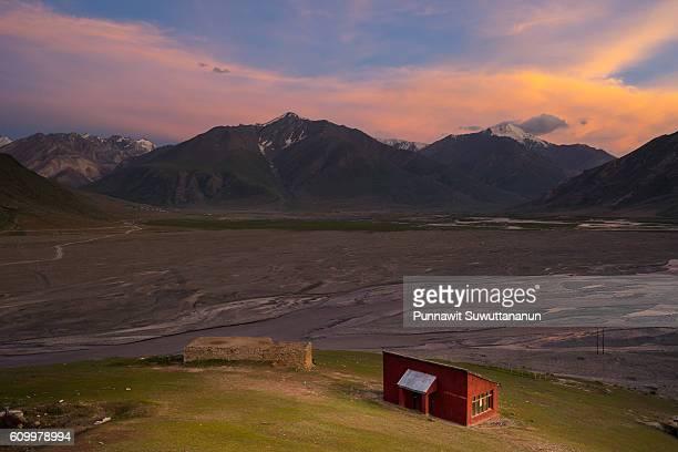 Beautiful sunset at Zanskar valley, Leh