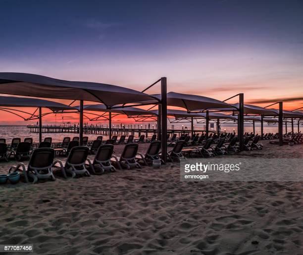 Beautiful sunset beach at Antalya
