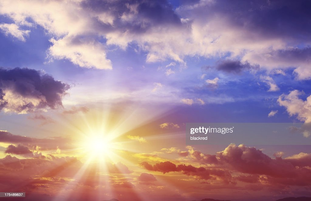 Beautiful Sunset Cloudscape : Stock Photo