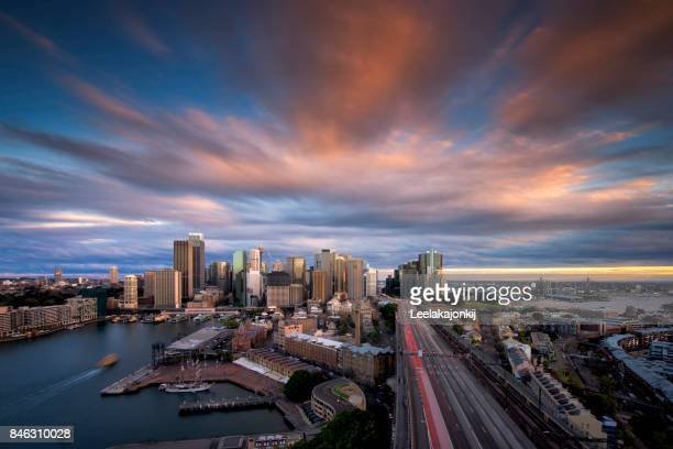 Beautiful sunset from Sydney.