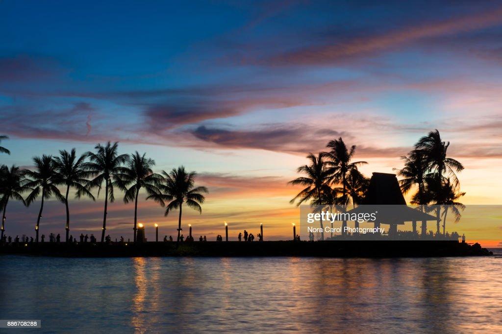 Beautiful Sunset In Kota Kinabalu Sabah Malaysia Stock Photo Getty