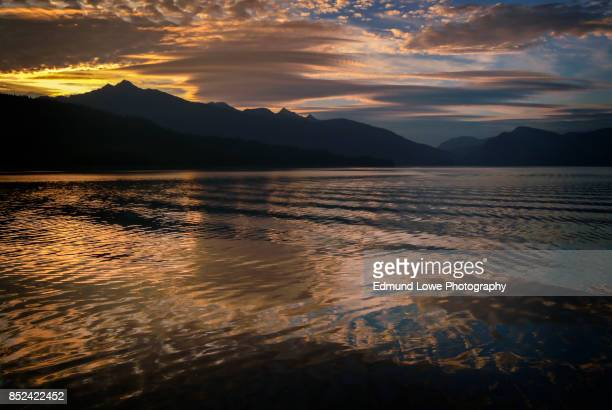 beautiful sunset in southeast alaska - southeast stock pictures, royalty-free photos & images
