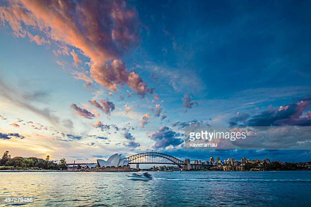 Beautiful sunset in Sydney
